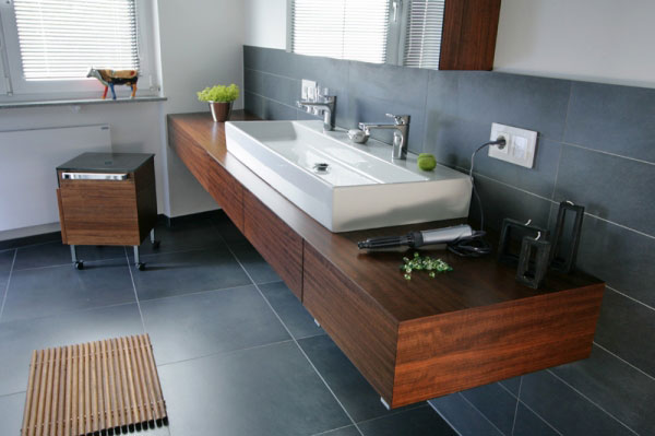 Moderne Badmöbel mit Waschtischplatte | {Moderne badezimmermöbel schwarz 89}