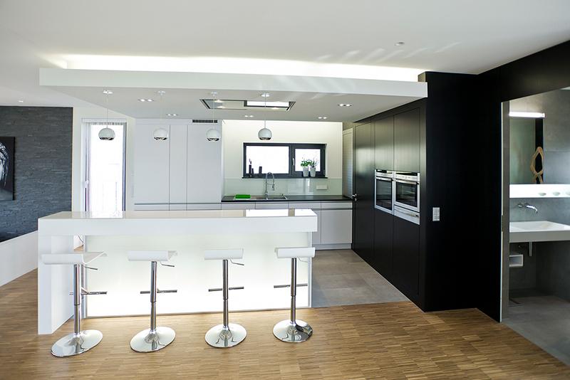 k che weiss matt grifflos inspiration. Black Bedroom Furniture Sets. Home Design Ideas