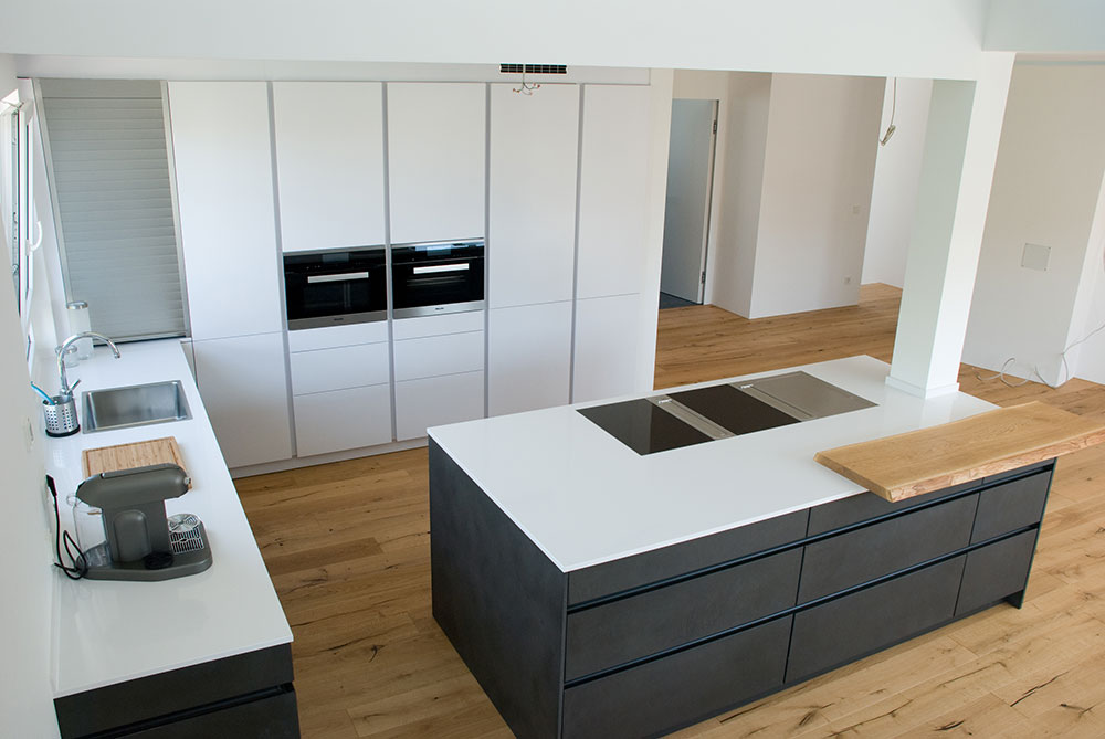 k che in metalloptik. Black Bedroom Furniture Sets. Home Design Ideas
