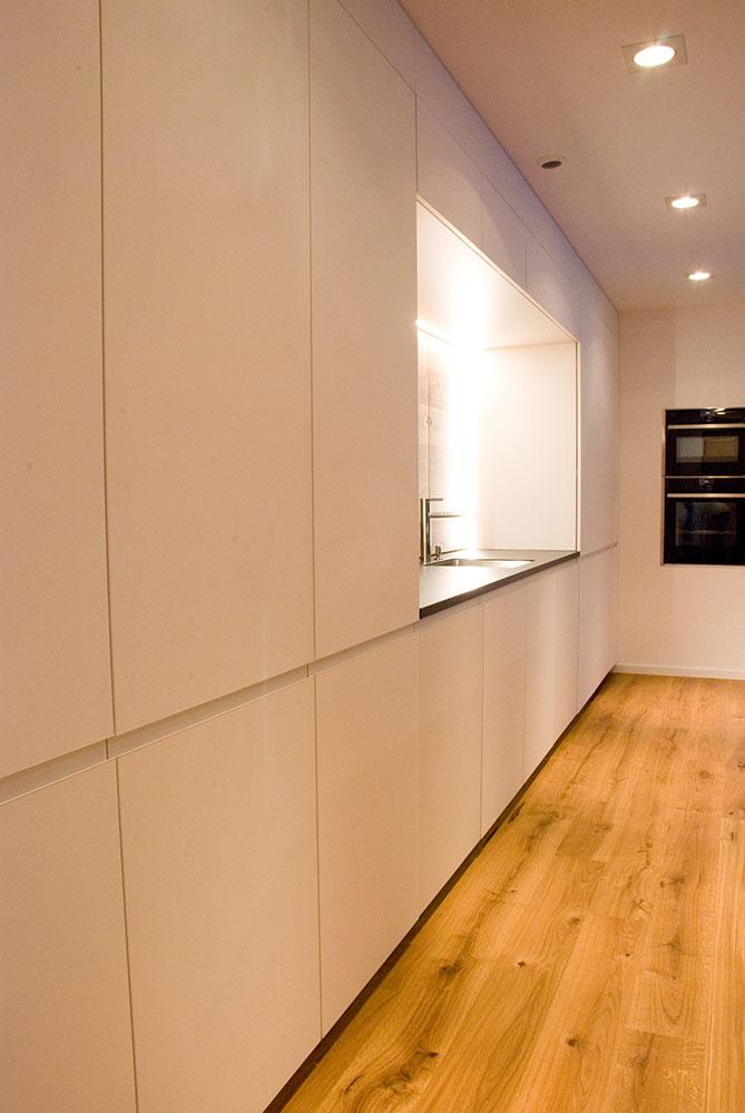 grifflose k cke in weiss matt. Black Bedroom Furniture Sets. Home Design Ideas