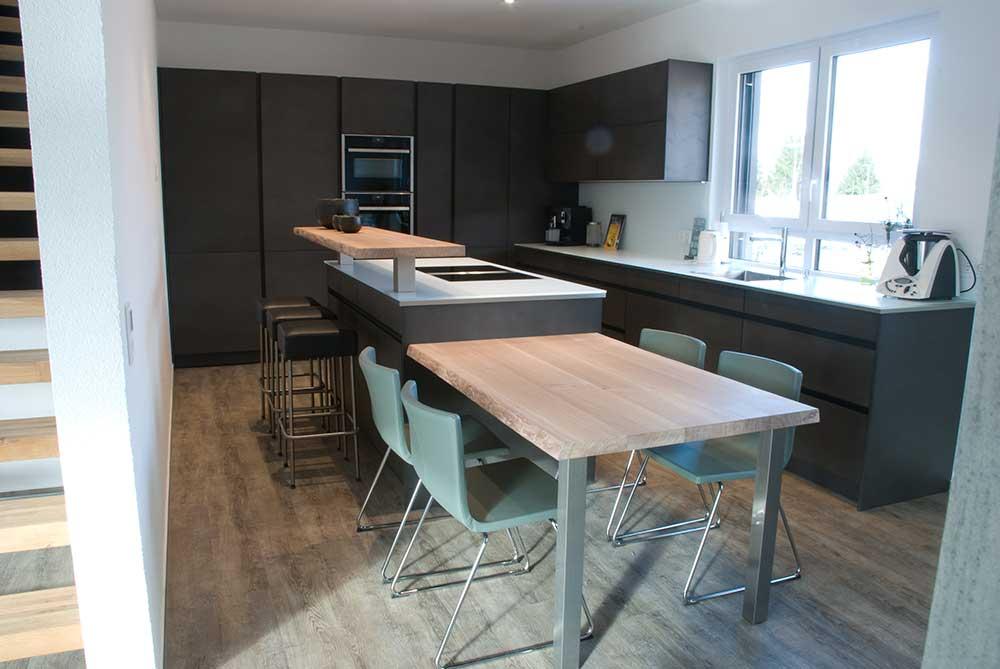 k che und esstisch. Black Bedroom Furniture Sets. Home Design Ideas